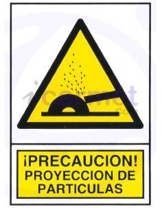 PEGATINA PELIGRO proyección...