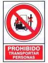 PEGATINA PROHIBIDO transportar personas